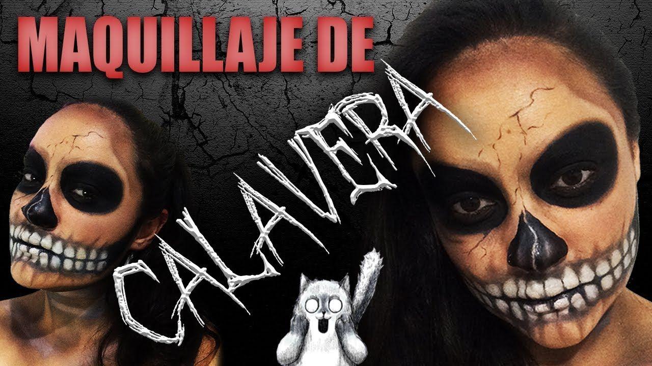 MAQUILLAJE DE CALAVERA FÁCIL paso a paso YouTube