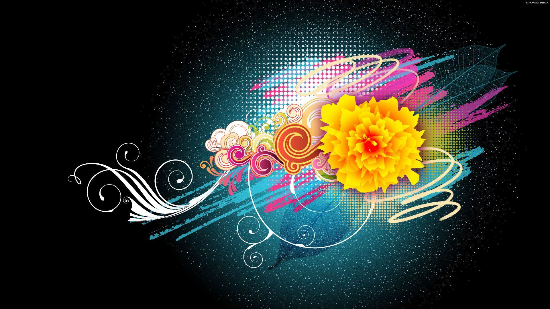 Hd wallpaper vector - Flower Vector Designs 1080p