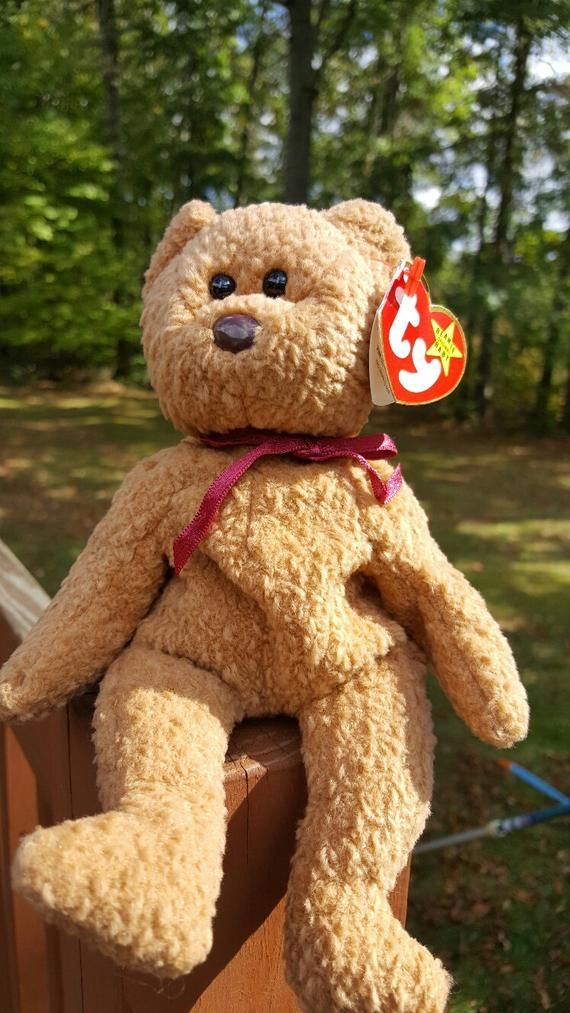 f85552eedf5 Ty Beanie Baby CURLY The Bear - Collectibles