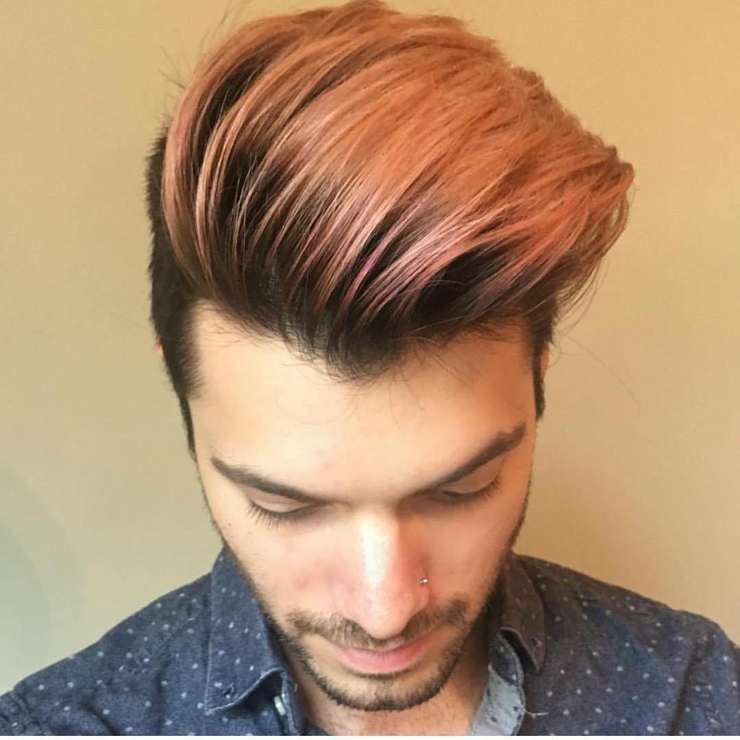 Cooper Brown Men Hair Color Dyed Hair Men Mens Hair Colour
