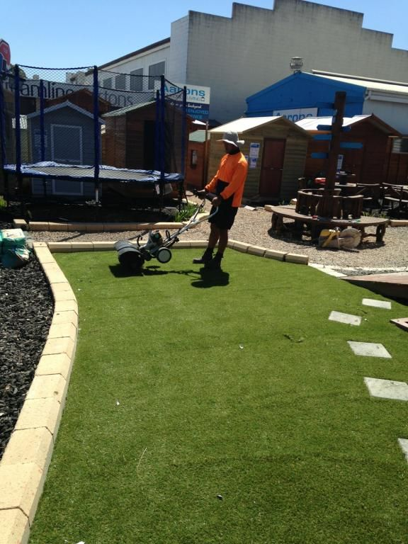 NO MOWING! Synthetic grass now available from Aarons.  Fake Grass is becoming an extremely popular choice for all backyards. http://www.aaronsoutdoor.com.au/synthetic-grass