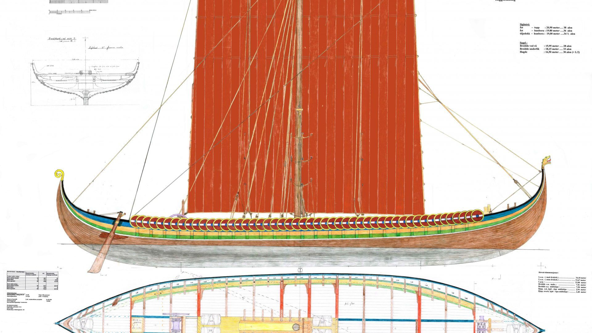 VIKING SHIP I T-SHIRT Vikings Schiff Wikinger Langboot Drachenboot Langschiff