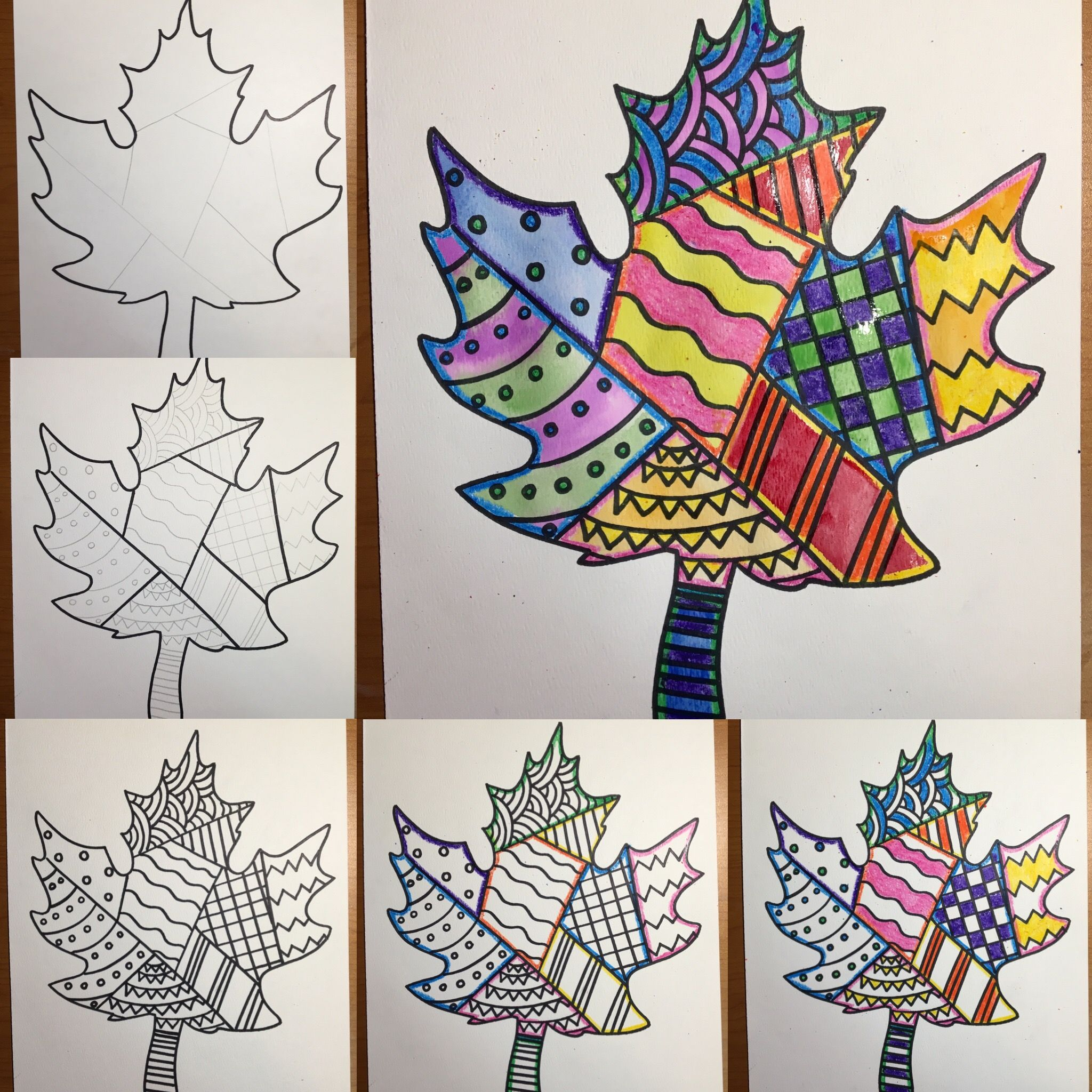 Diy Zentangle Maple Leaf Art For Kids