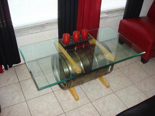 Beer keg coffee table Household Pinterest Beer keg Coffee