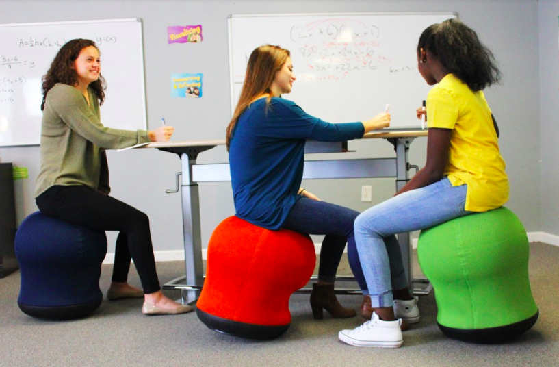 portable wobble chair exercises teal armless kinesthetic classrooms flexible seating and modern for students chairs standing desks