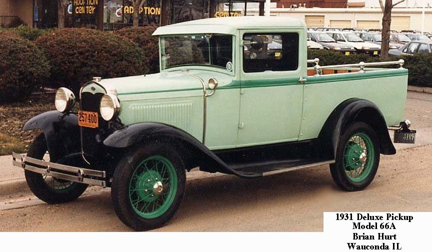 1931 Deluxe Pickup Ute Model 66a Vintage Trucks Ford Models