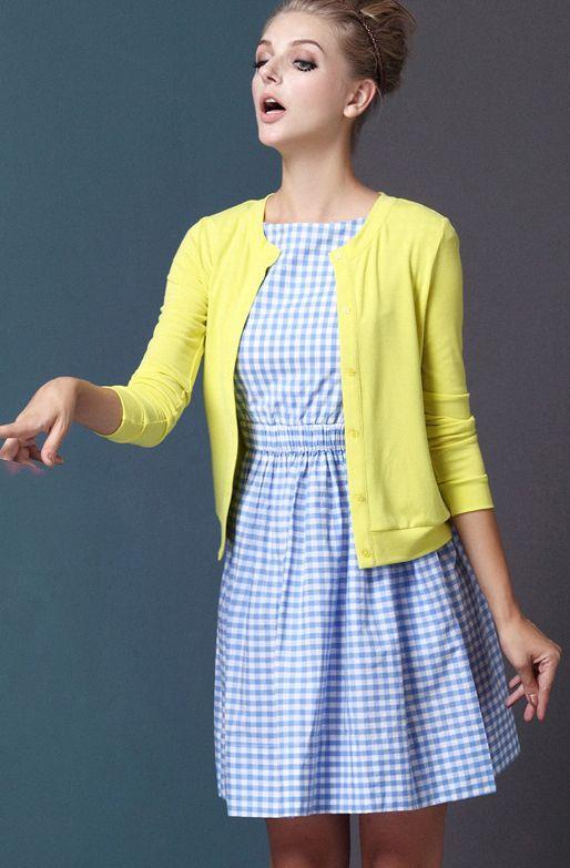 Light blue plaid dress | thinspiration outfits | Pinterest | Plaid ...