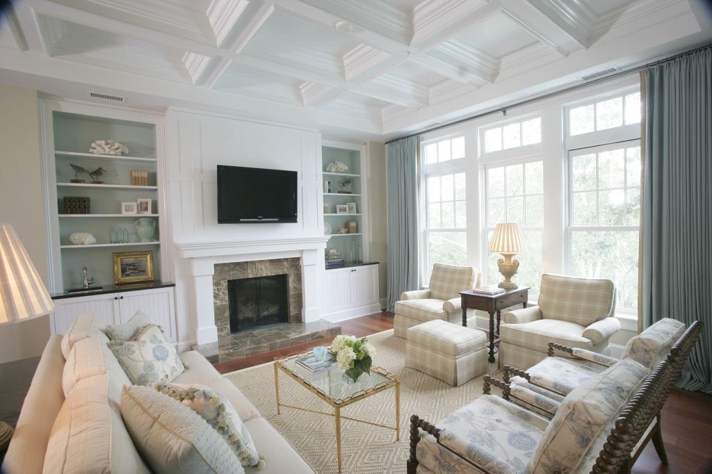 Best Light Blue And Pale Beige Living Room With White Built In 640 x 480