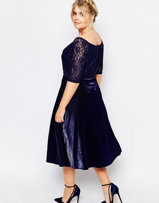 3450f14ad3fd Truly You Lace Bardot Full Skirt Midi Dress | Stuff I own | Full ...