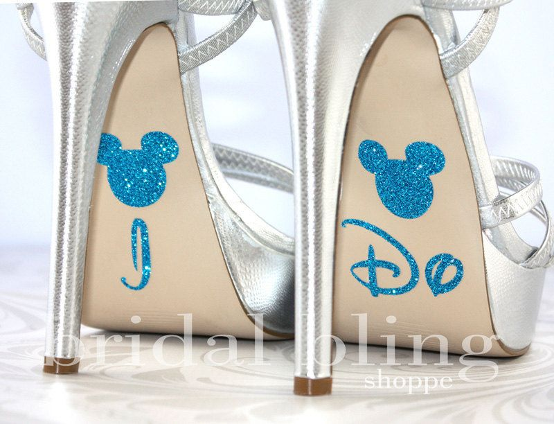 I Do Shoe Stickers For The Disney Bride Glittering Something Blue Janosz Will These Your Wedding Day