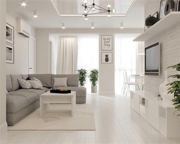 Intérieur gris et blanc de style minimaliste en 40 photos qui
