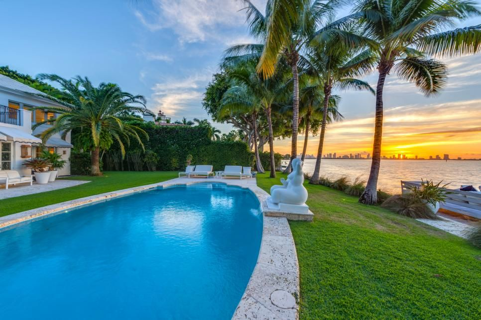Awesome Tour A Historic Waterfront Estate In Miami Beach Fla Home Interior And Landscaping Ponolsignezvosmurscom