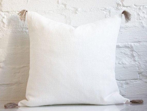 Linen Pillow With Tassels Decorative Tassel Pillow Linen 40x40 Cool Decorative Tassel Pillows