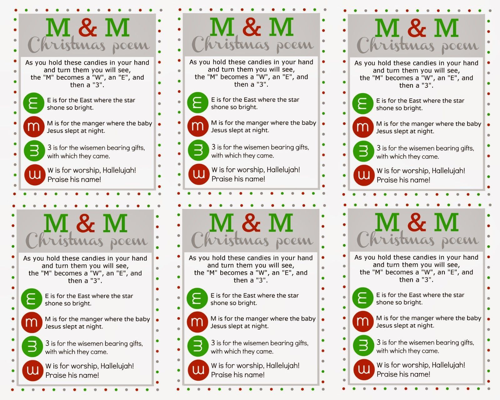 image result for mm christmas poem printable