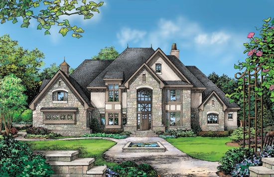 Rock Exterior House Plans Beautiful Combination of Brick and