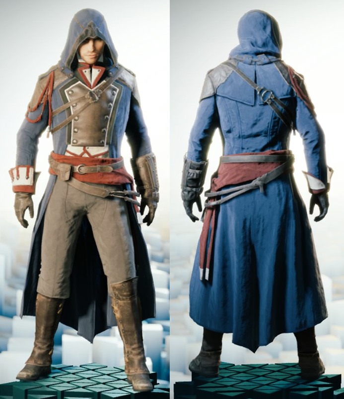 good assassin's creed outfits unity men