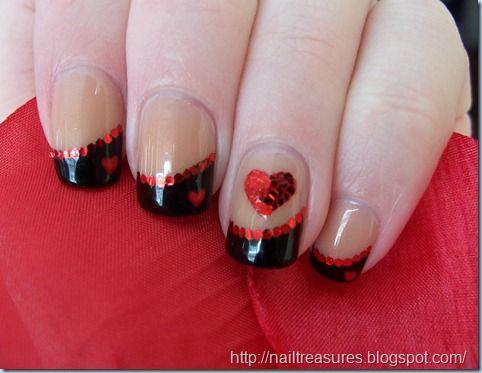 Heart Nail art design