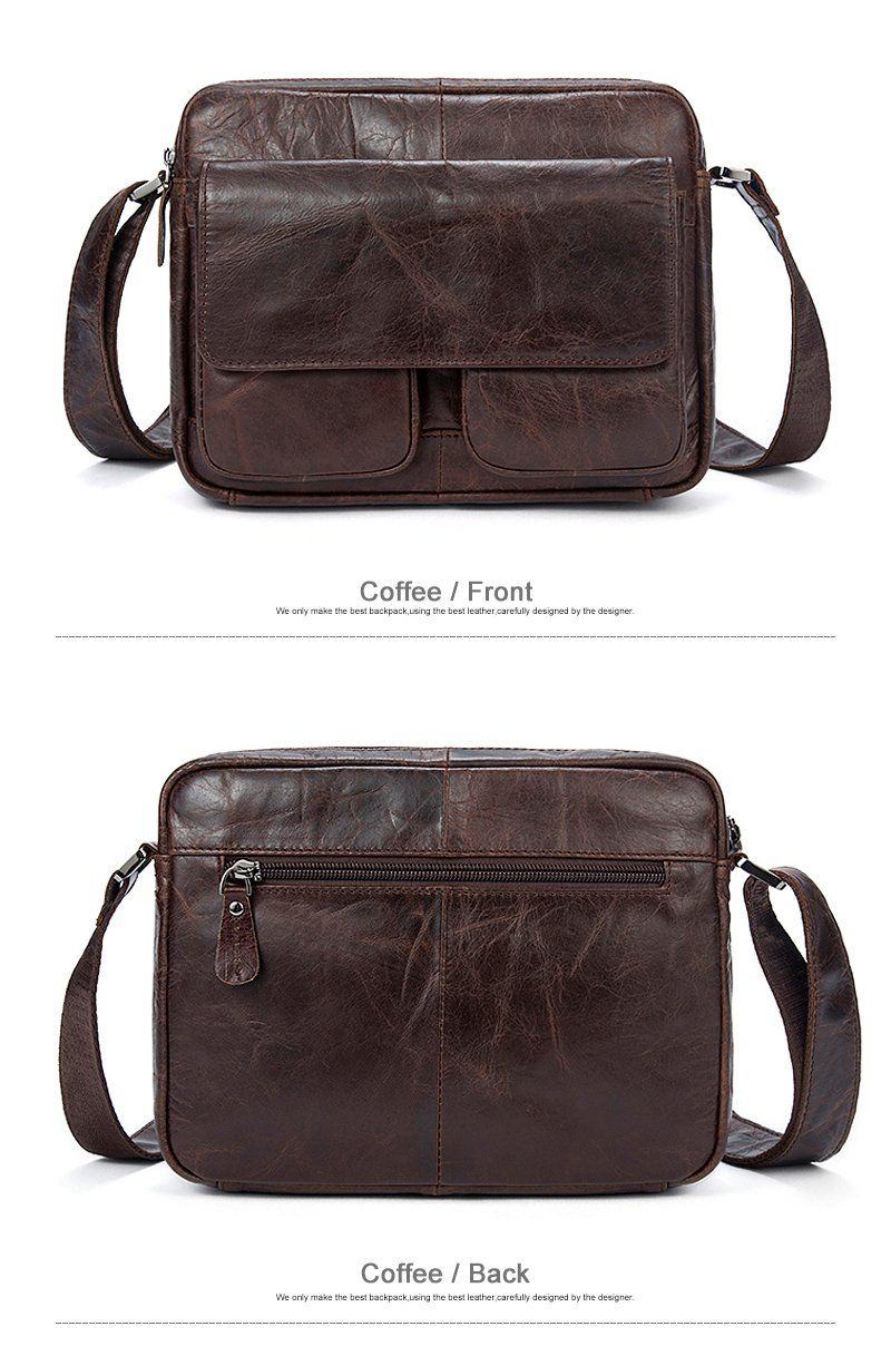 Men s Leather Shoulder Bag Genuine 100% Leather Messenger Bag Small  Crossbody Man Bags for iPad Tablet Messenger Bags Men Leather 6322e7ee495b0