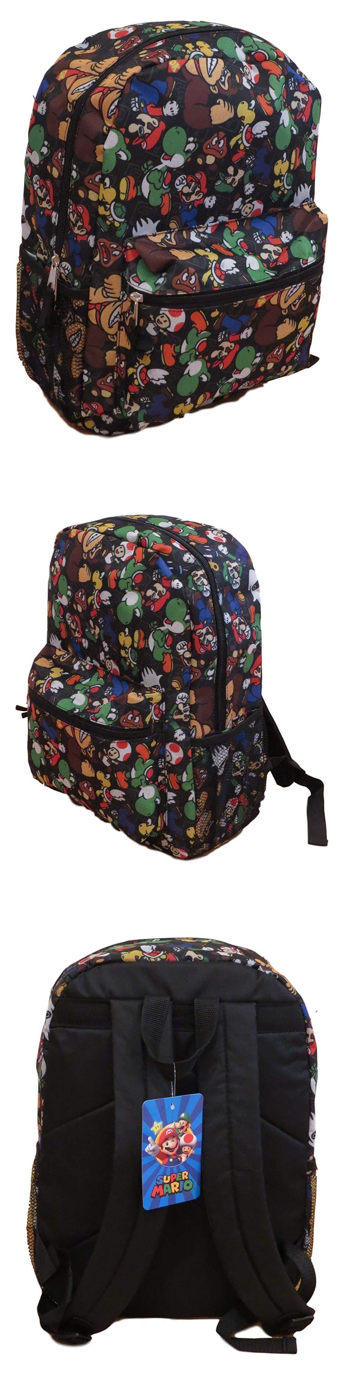 Backpacks and bags super mario school backpack book bag yoshi