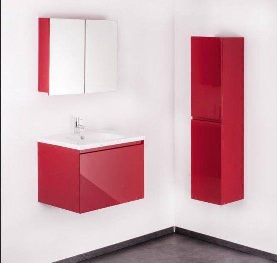 Mybath Spiegelschrank Af09037 In 75 Cm Rot Spiegelschrank
