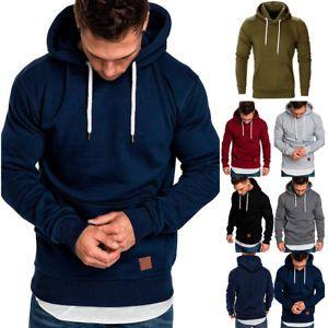 Coat Sweater Fit Hoodies Warm Outwear Winter Sweatshirt Jacket Slim Hooded Men/'s