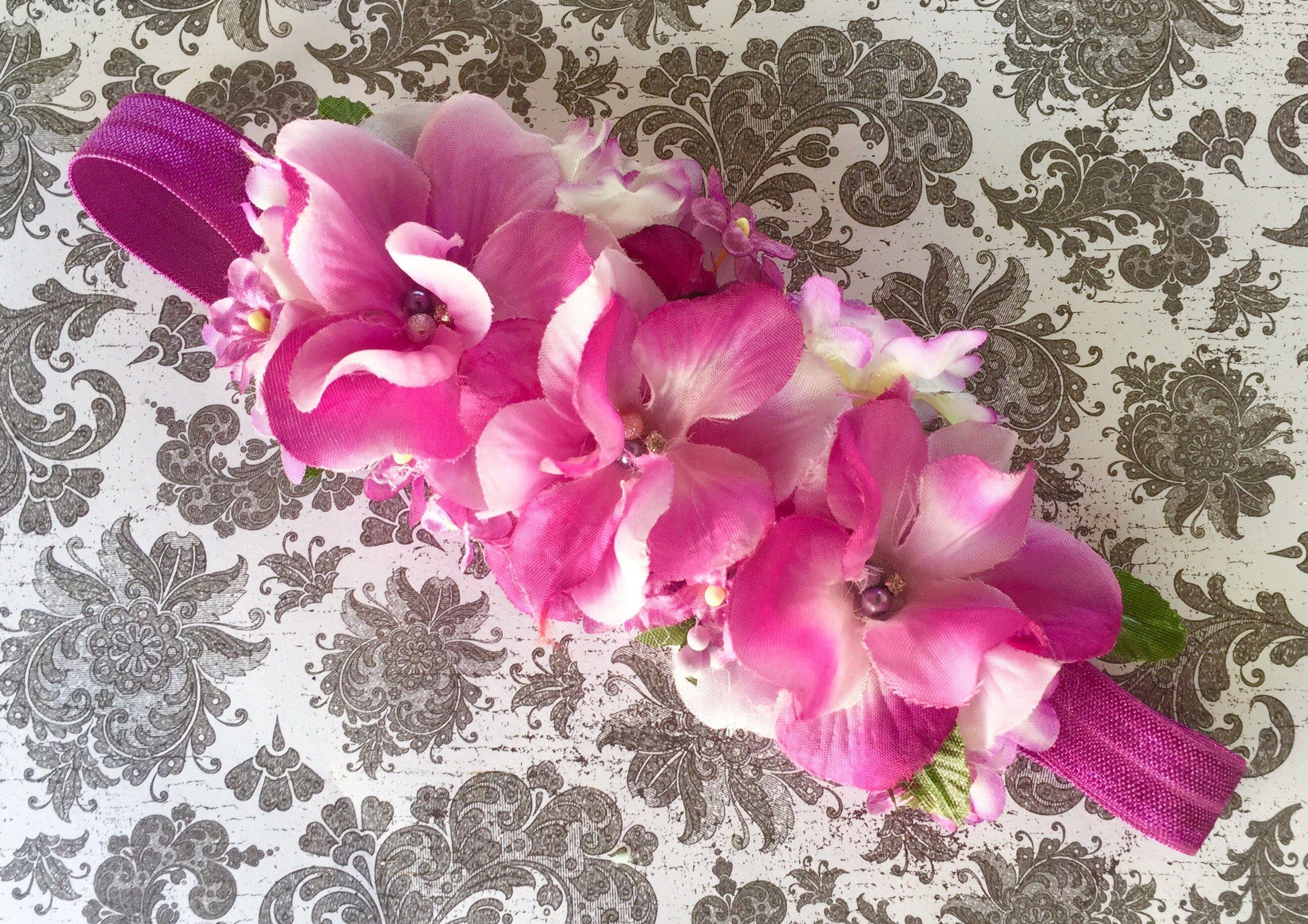 Lavender Plum Pink Lilac And White Newborn Floral Hydrangea