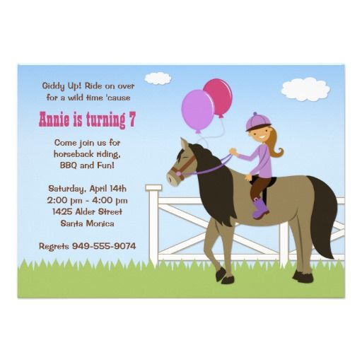 free printable horse birthday party invitations Alan