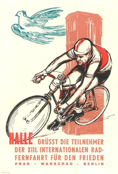 Cadenced Peace Race Poster From 1960 Found On Bicyclegifts