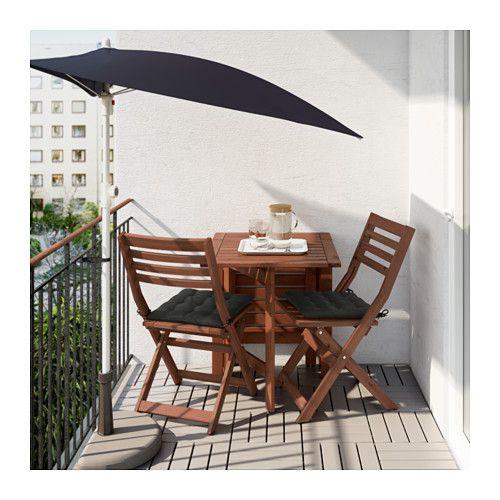 Ikea Tavolo Pieghevole Da Esterno.Applaro Tavolo 2 Sedie Pieghevoli Giardino Ikea Garden