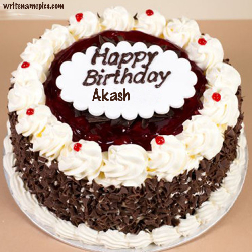 Birthday Cake With Name And Photo.Successfully Write Your Name In Image Akash In 2019