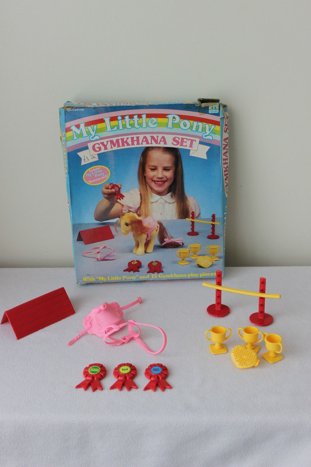 Vintage G1 MY Little Pony Gymkhana SET Complete Accessories AND BOX | eBay