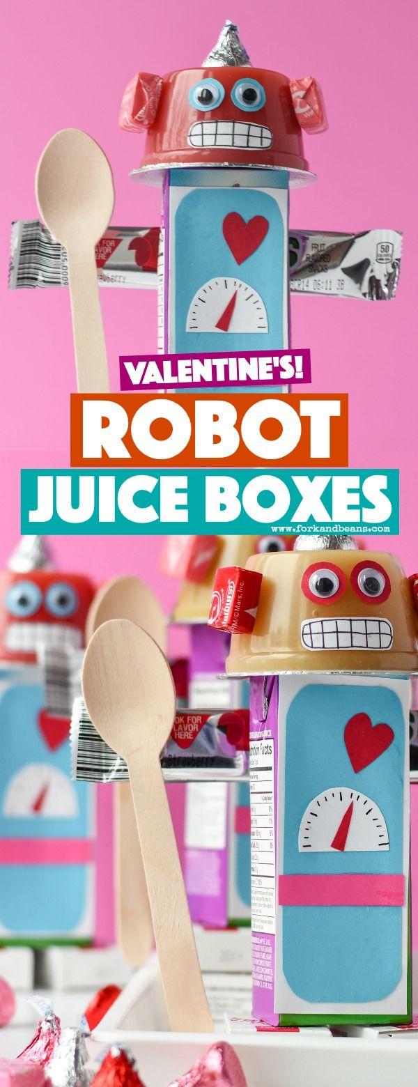 Robot Juice Boxes | Recipe | Valentines robots, Preschool ...