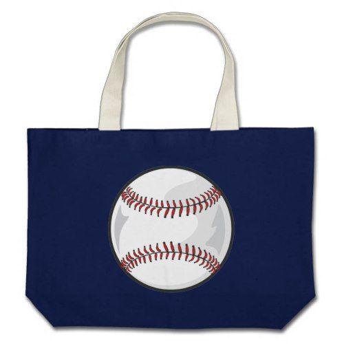 Baseball Large Tote Bag Zazzle Com Large Tote Bag Tote Bag Tote