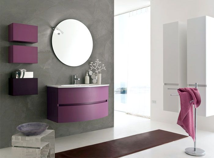 home decorating color trends for 2014 purple bathroom furniture