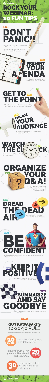 Rock Your Webinar 10 Fun Tips   #infographic #Webinar #Internet