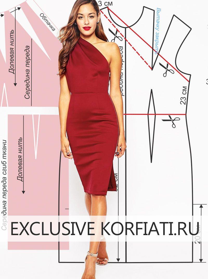 Модные женские платья с выкройками фото 660