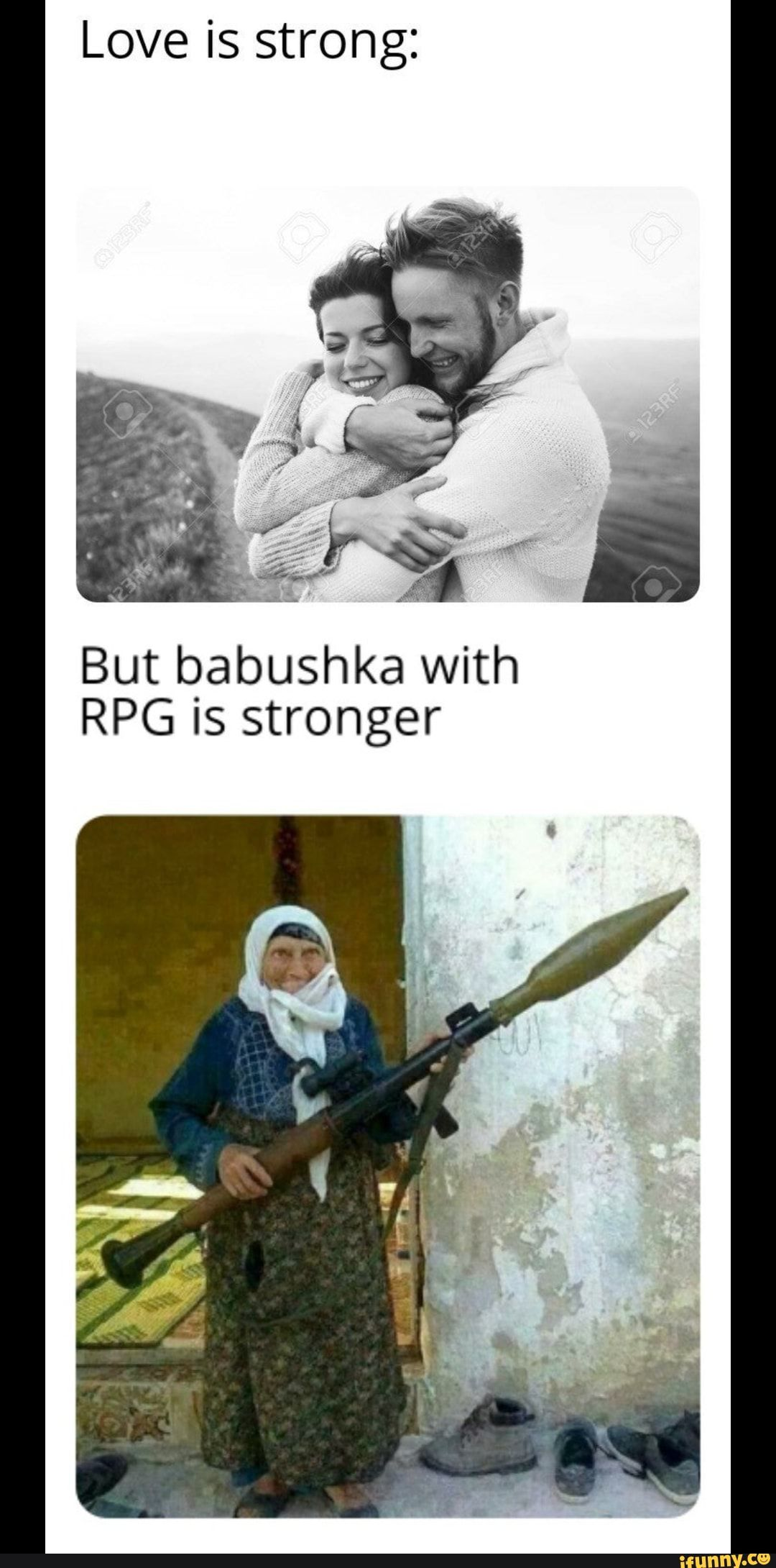 Love Is Strong But Babushka With Rpg Is Stronger Ifunny Rainbow Six Siege Memes Strong Love Funny Pictures