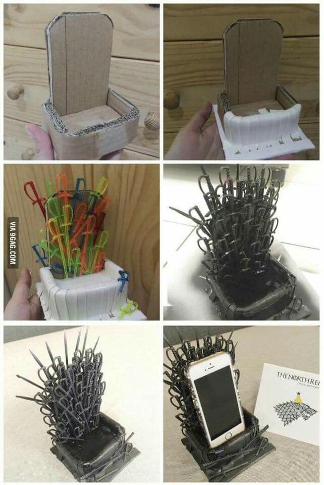 Game Of Thrones Cell Stand Crafts I Must Try Nerd Geschenke Diy