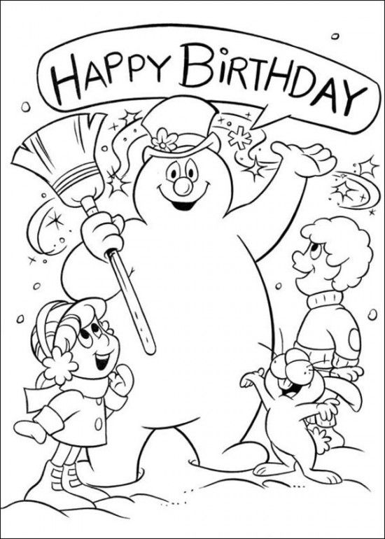 f9edf63432535348c20abcda98830b40 » Christmas Frosty Coloring Sheet