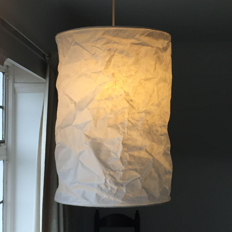 Crumpled Shoji Kozo Paper Lampshade Paper Lampshade Light
