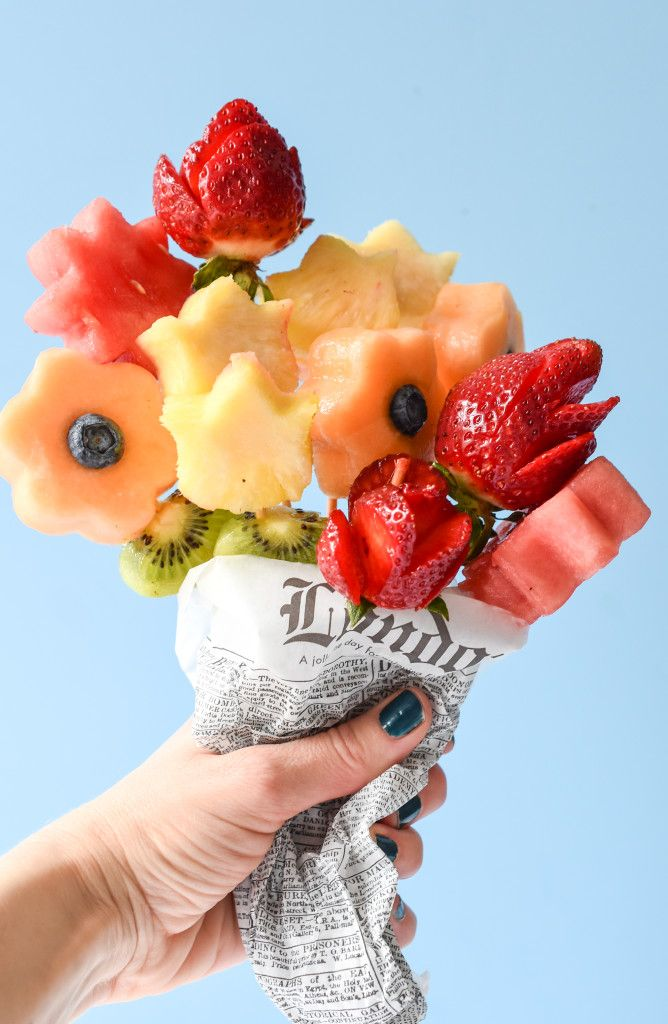 Edible Fruit Bouquets for Mom | Recipe | Healthy treats, Cancer ...