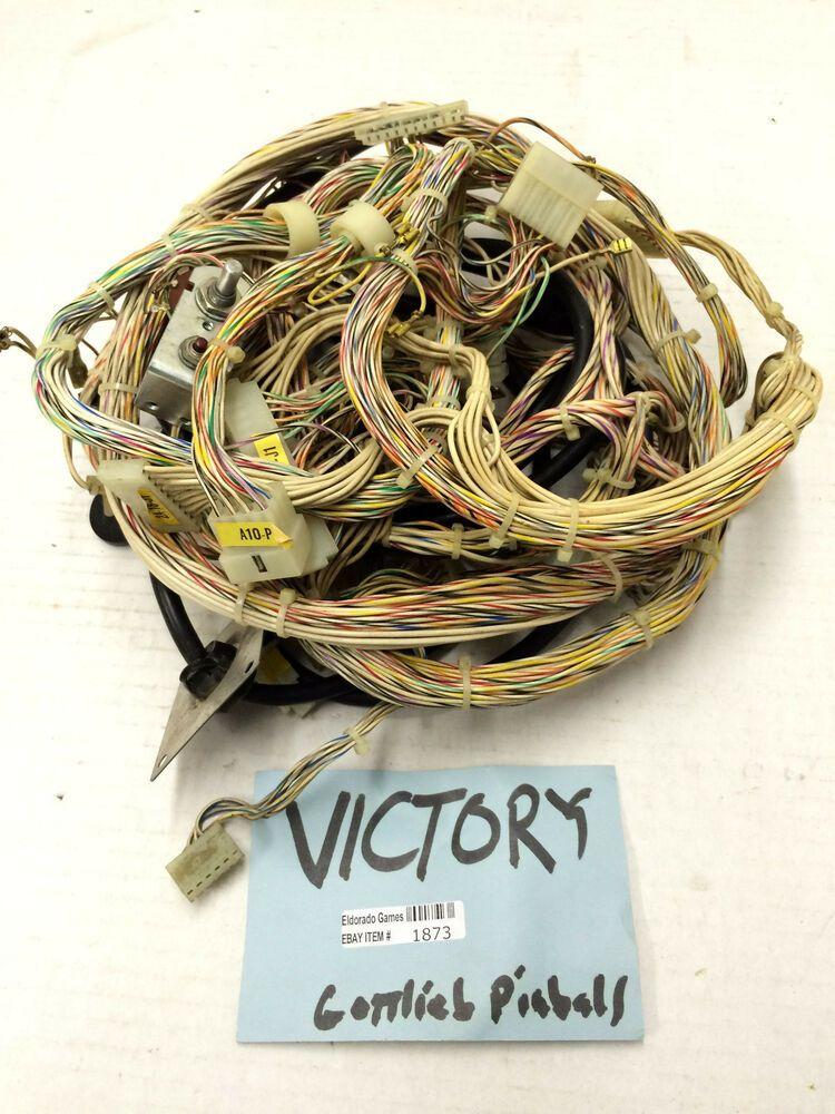 ebay #sponsored victory gottlieb pinball wiring harness connectors #1873  arcade