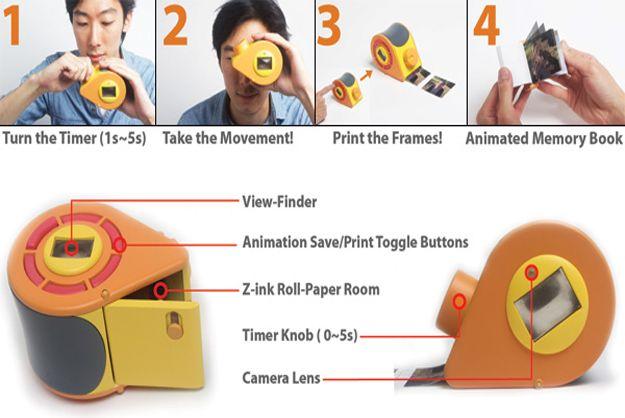 Polaroid Video Camera Instantly Prints Mini Flipbooks - PSFK