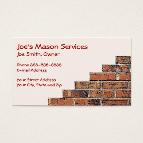 Brick mason masonry business card masons masonry and brick mason brick mason masonry business card colourmoves