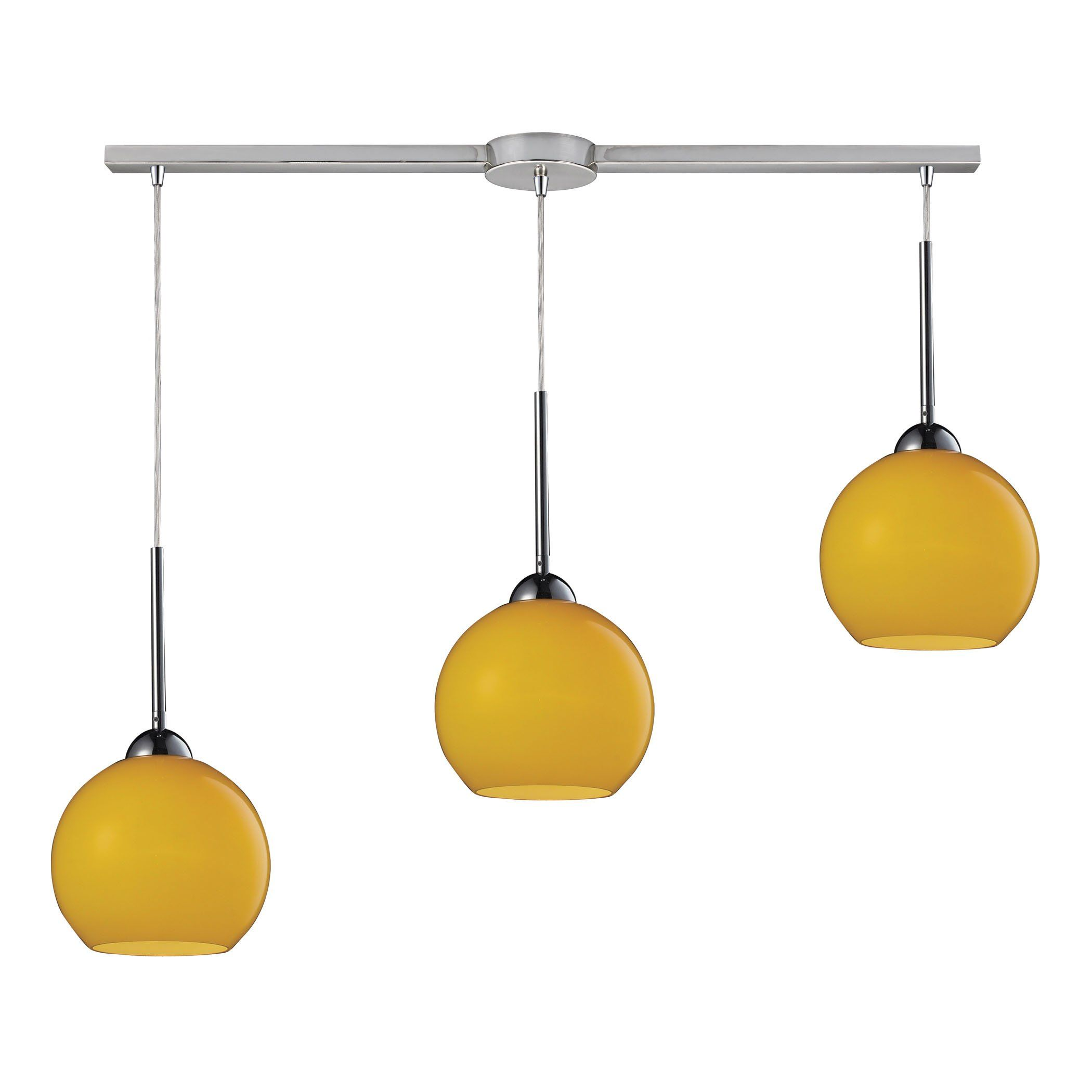 A Polished Chrome Cassandra 3 Light Pendant Made Of Metal And Lemon Glass Collection Style Class Indoor Lighting Finish Materials