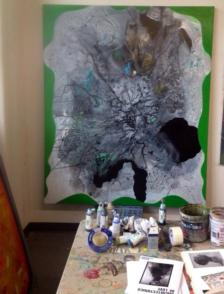 Jennifer coates artist painting studio painting studio