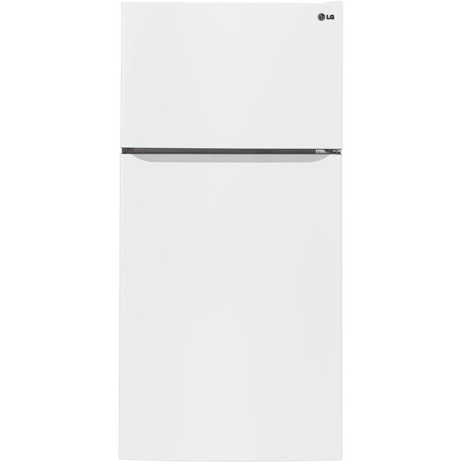 Lg 23 8 Cu Ft Top Freezer Refrigerator With Ice Maker Smooth White Energy Star At Lowes Com Top Mount Refrigerator Refrigerator Top Freezer Refrigerator