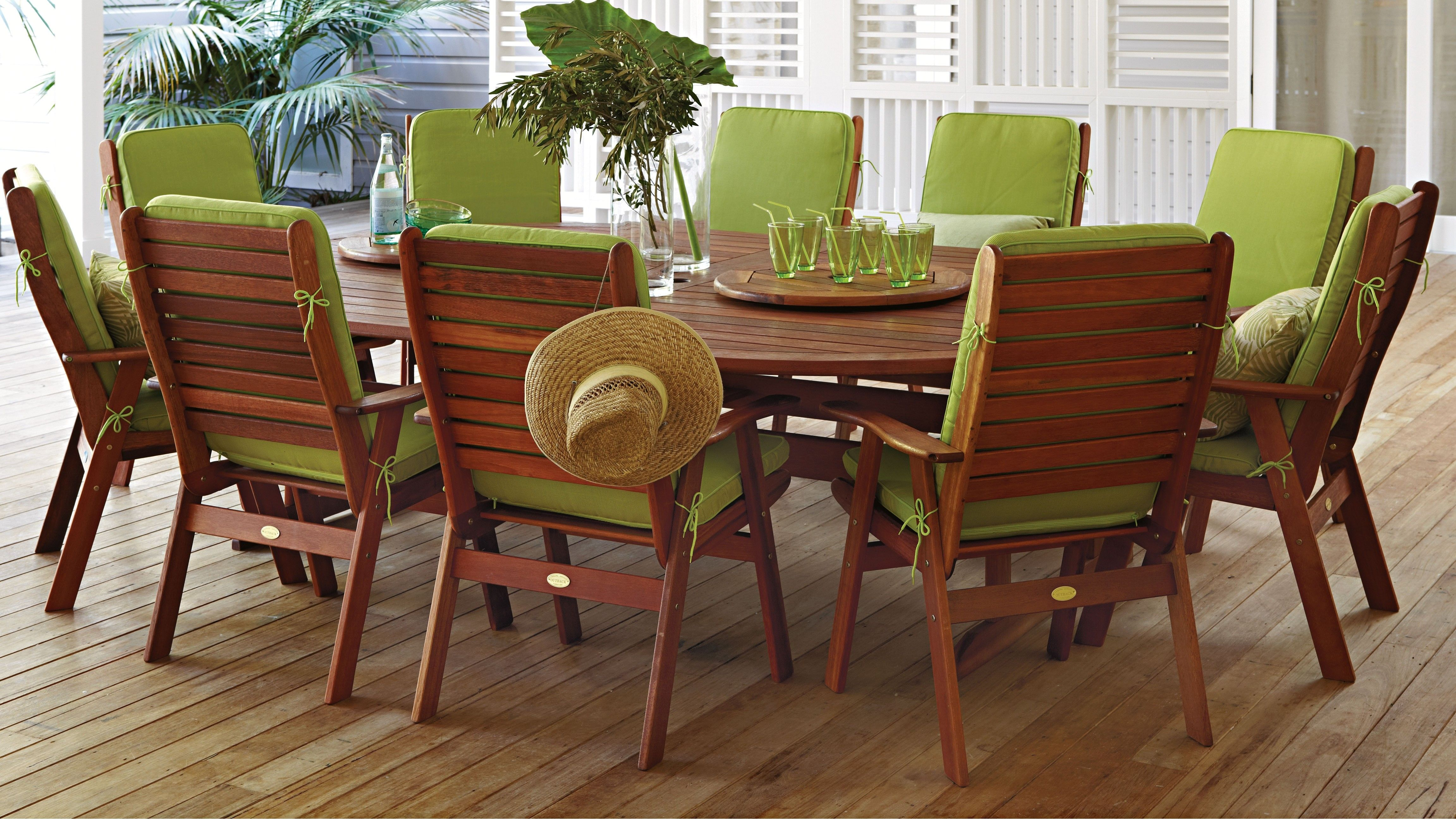 Montreal 13 Piece Outdoor Dining Setting Harvey Norman