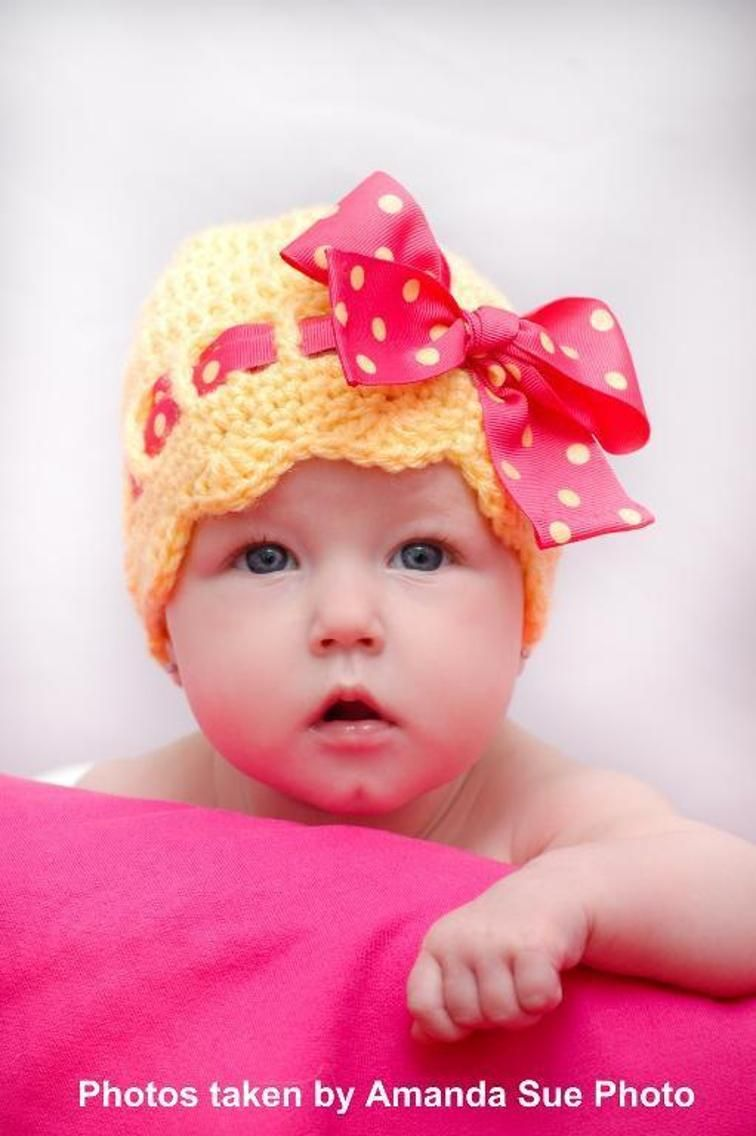 Pattern for Sunny Bow Hat | Craftsy | Berets caps beenies | Pinterest