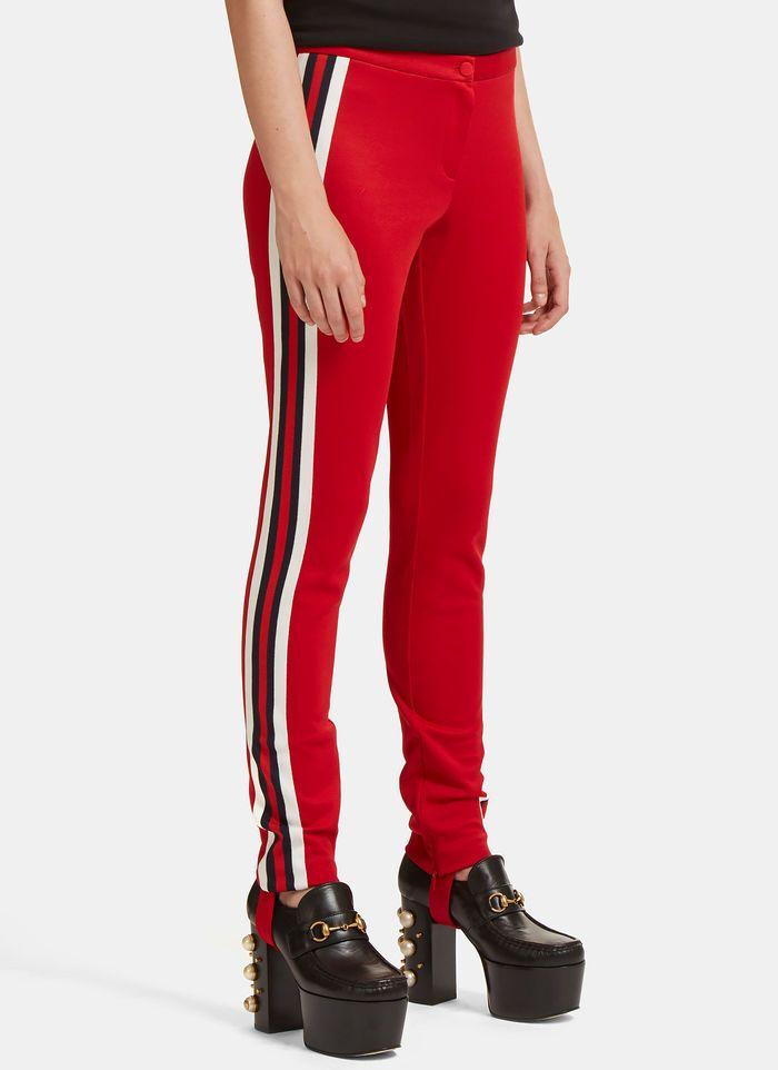 c952a29b8eb Striped Web Jersey Stirrup Leggings